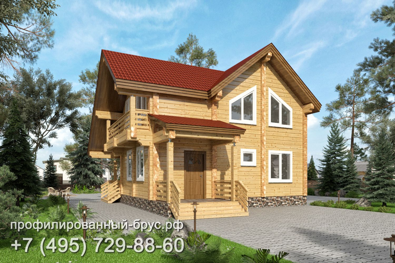 Проект дома из профилированного бруса размером 11x9 м.