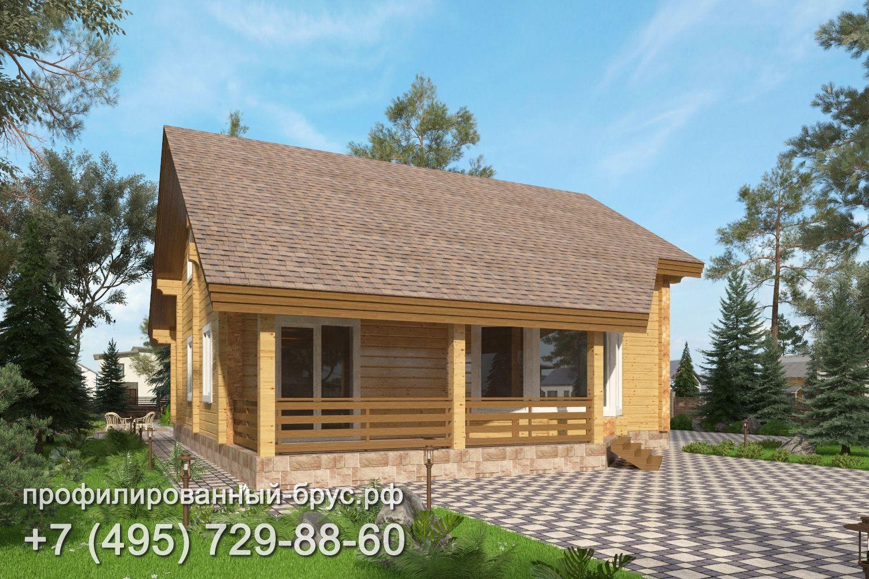 Проект дома из профилированного бруса размером 12,5x10 м.