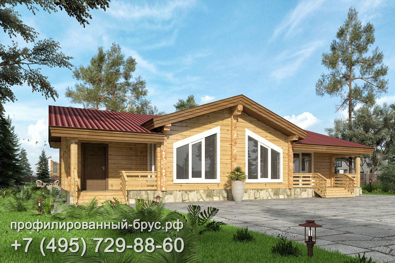 Проект дома из профилированного бруса размером 10x16 м.