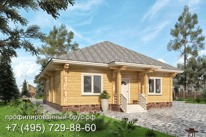 Проект дома из профилированного бруса размером 13,5x10 м.