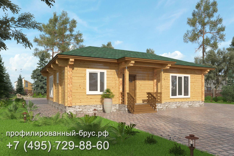 Проект дома из профилированного бруса размером 11x12 м.
