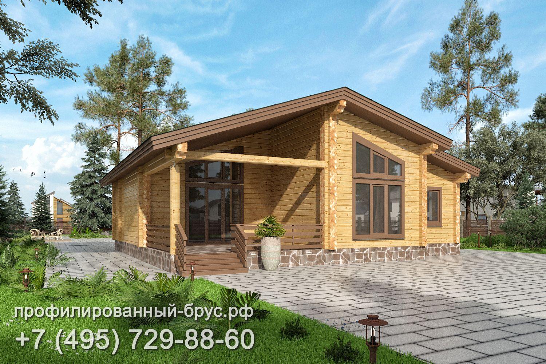 Проект дома из профилированного бруса размером 12x12 м.