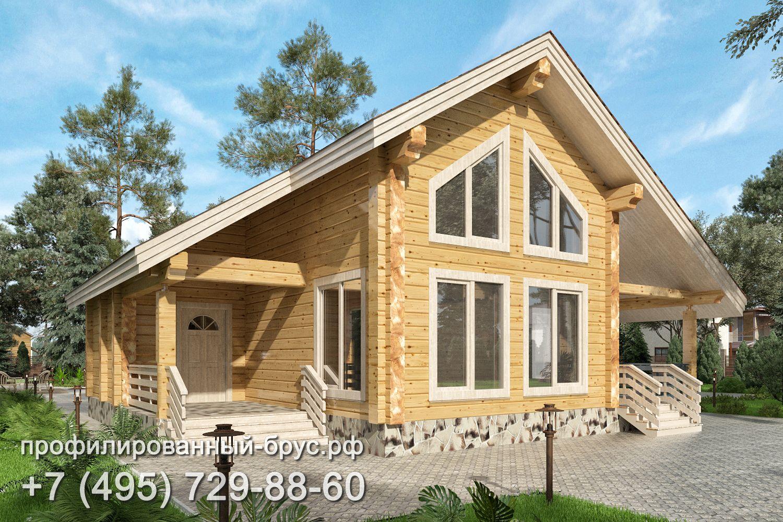 Проект дома из профилированного бруса размером 9x10,5 м.