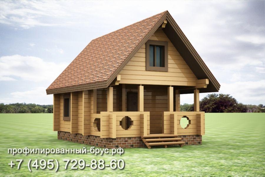 Проект дома из профилированного бруса размером 5,5x8 м.