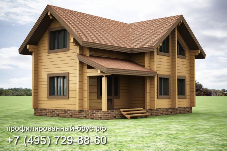 Проект дома из профилированного бруса размером 9x11 м.