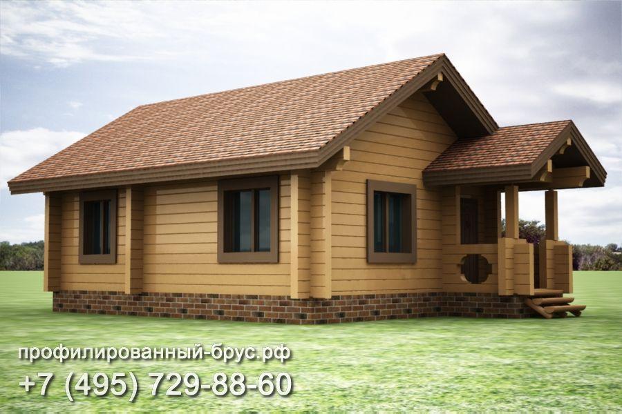 Проект дома из профилированного бруса размером 7x11 м.