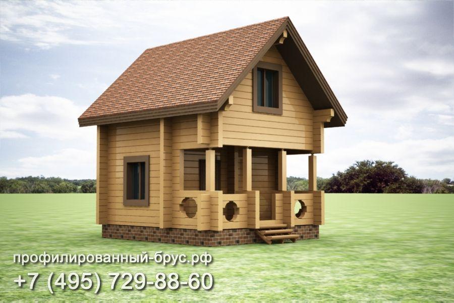 Проект дома из профилированного бруса размером 6x5,5 м.