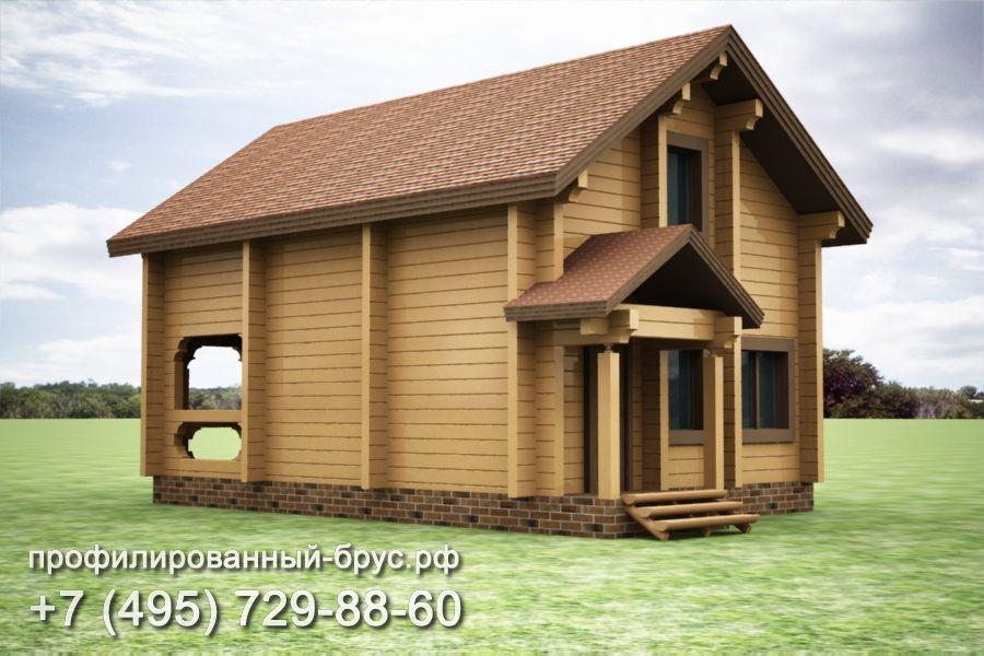 Проект дома из профилированного бруса размером 10,5x7 м.