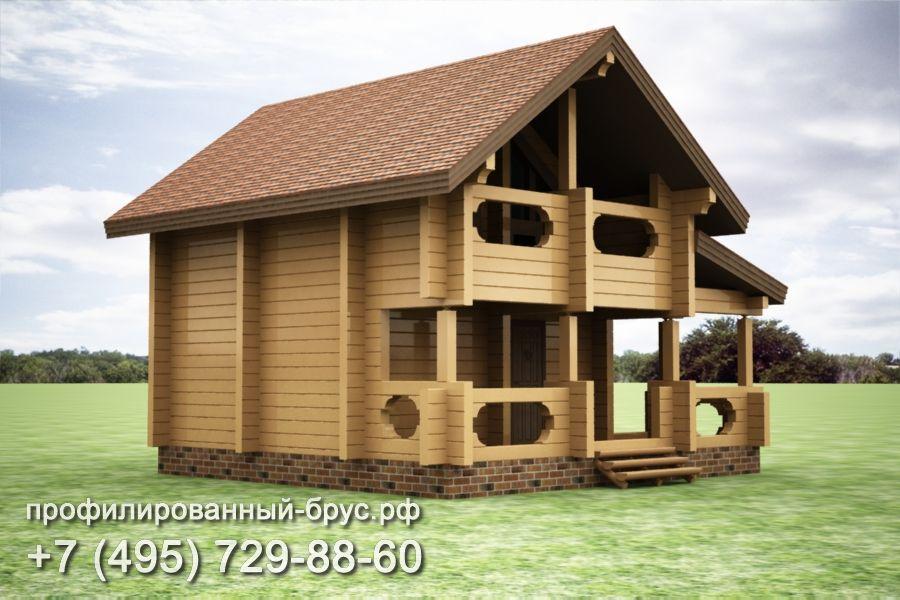 Проект дома из профилированного бруса размером 8x8,5 м.