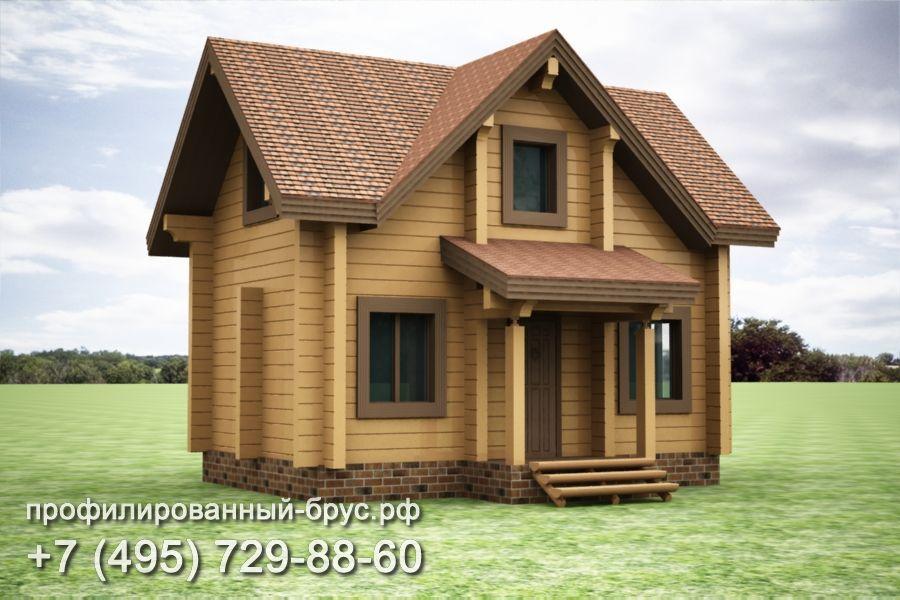 Проект дома из профилированного бруса размером 5x7,5 м.
