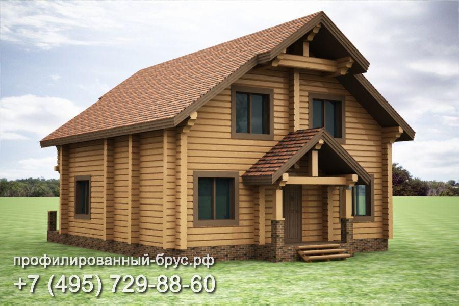 Проект дома из профилированного бруса размером 11x10,5 м.