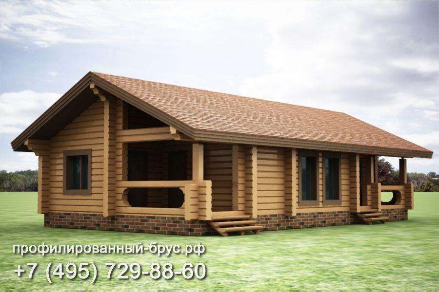 Проект дома из профилированного бруса размером 8,5x15,5 м.