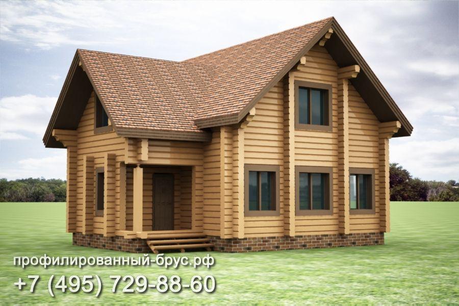 Проект дома из профилированного бруса размером 11x9,5 м.