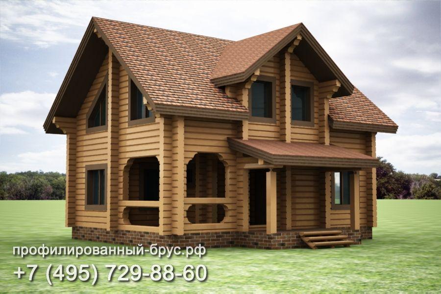 Проект дома из профилированного бруса размером 10,5x8 м.
