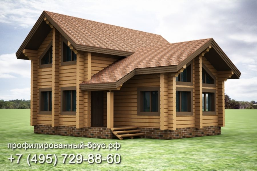 Проект дома из профилированного бруса размером 10x9,5 м.