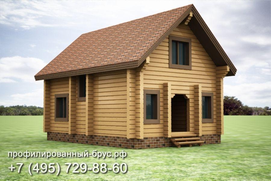 Проект дома из профилированного бруса размером 9,5x6,5 м.
