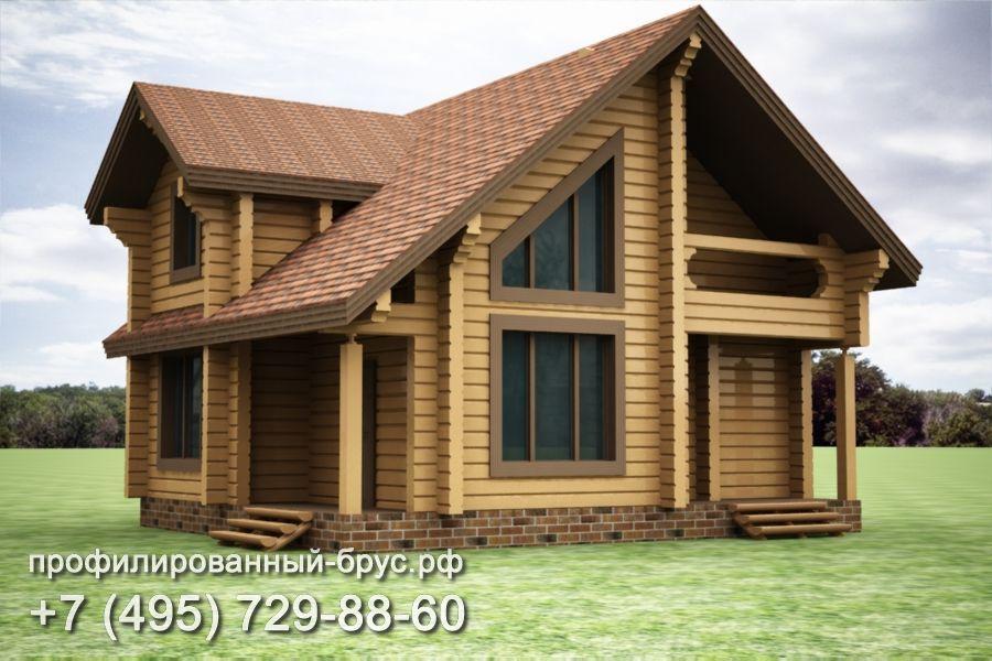 Проект дома из профилированного бруса размером 8,5x10 м.