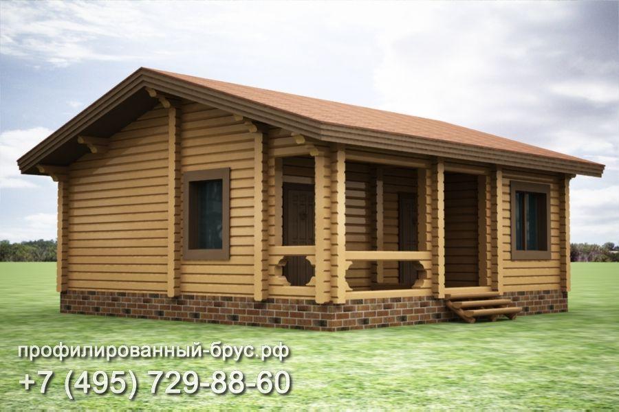 Проект дома из профилированного бруса размером 9,25x9,25 м.