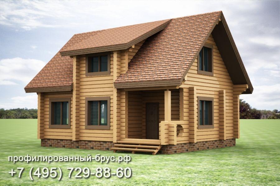 Проект дома из профилированного бруса размером 8,5x10,5 м.