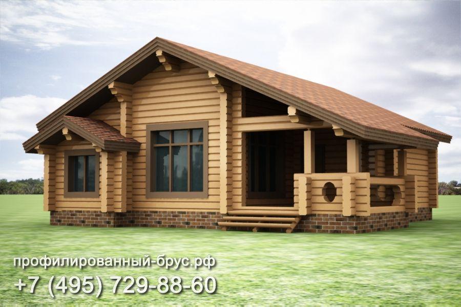 Проект дома из профилированного бруса размером 12x13 м.
