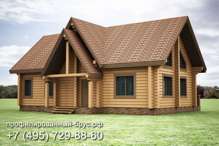 Проект дома из профилированного бруса размером 10,5x15 м.