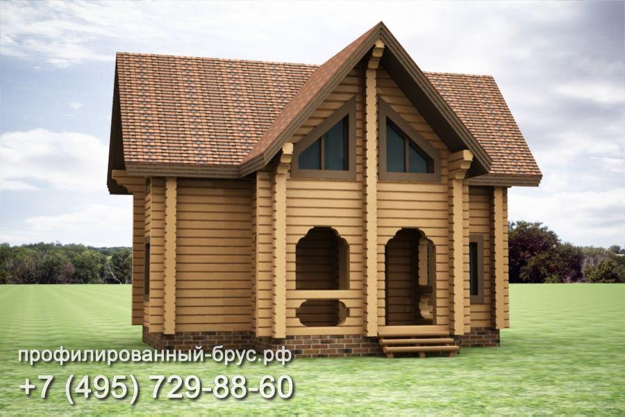 Проект дома из профилированного бруса размером 10x10 м.